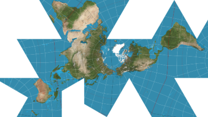 Dymaxion Projection World Map