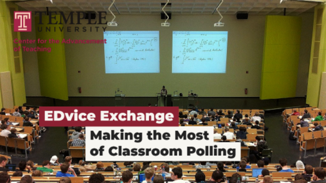 Making the Most of Classroom Polling