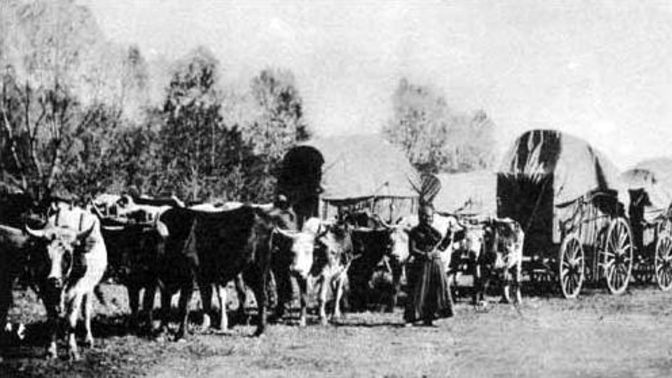A wagon train