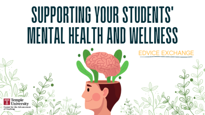Supporting Your Students' Mental Health and Wellness